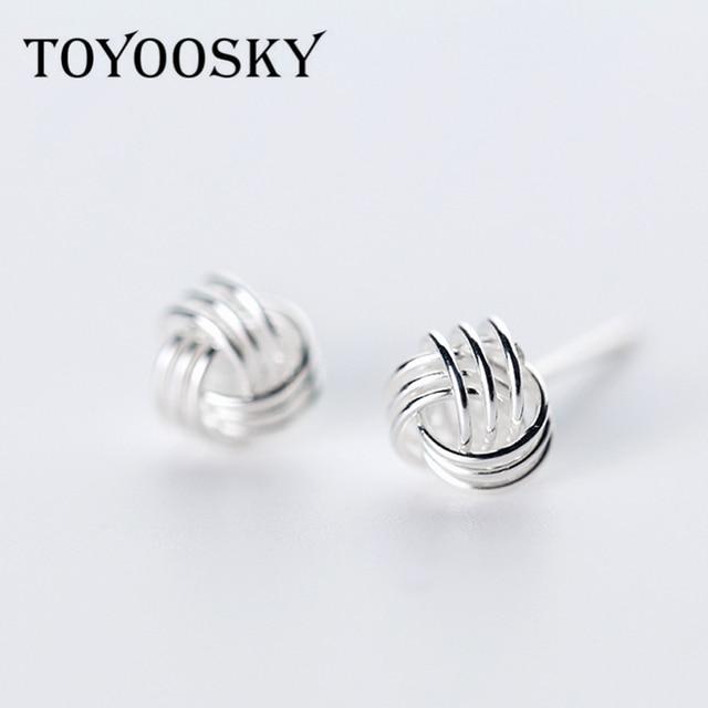 New 925 Sterling Silver Yarn Ball Shape 2mm 3mm 6mm 7mm Stud Earrings For Men Women