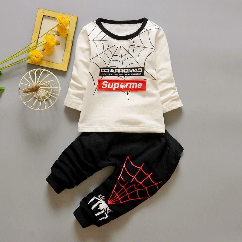 Baby s Clothing Set Sweatshirts Pants 9 to 24M Spider Soft Cotton Spring Autumn Boys Girls