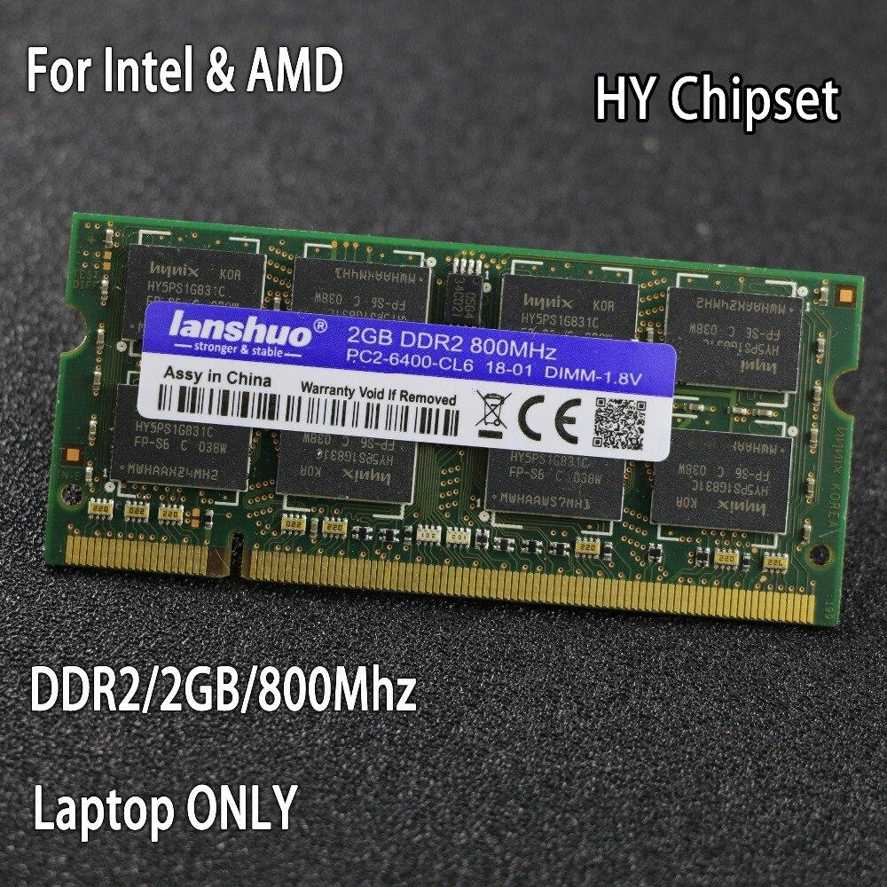 Original chipsatz DDR2 2 GB 800 MHz 667 MHz 800 667 PC2-6400 DDR 2 2G notebook speicher Laptop RAM 200PIN SODIMM für intel für amd