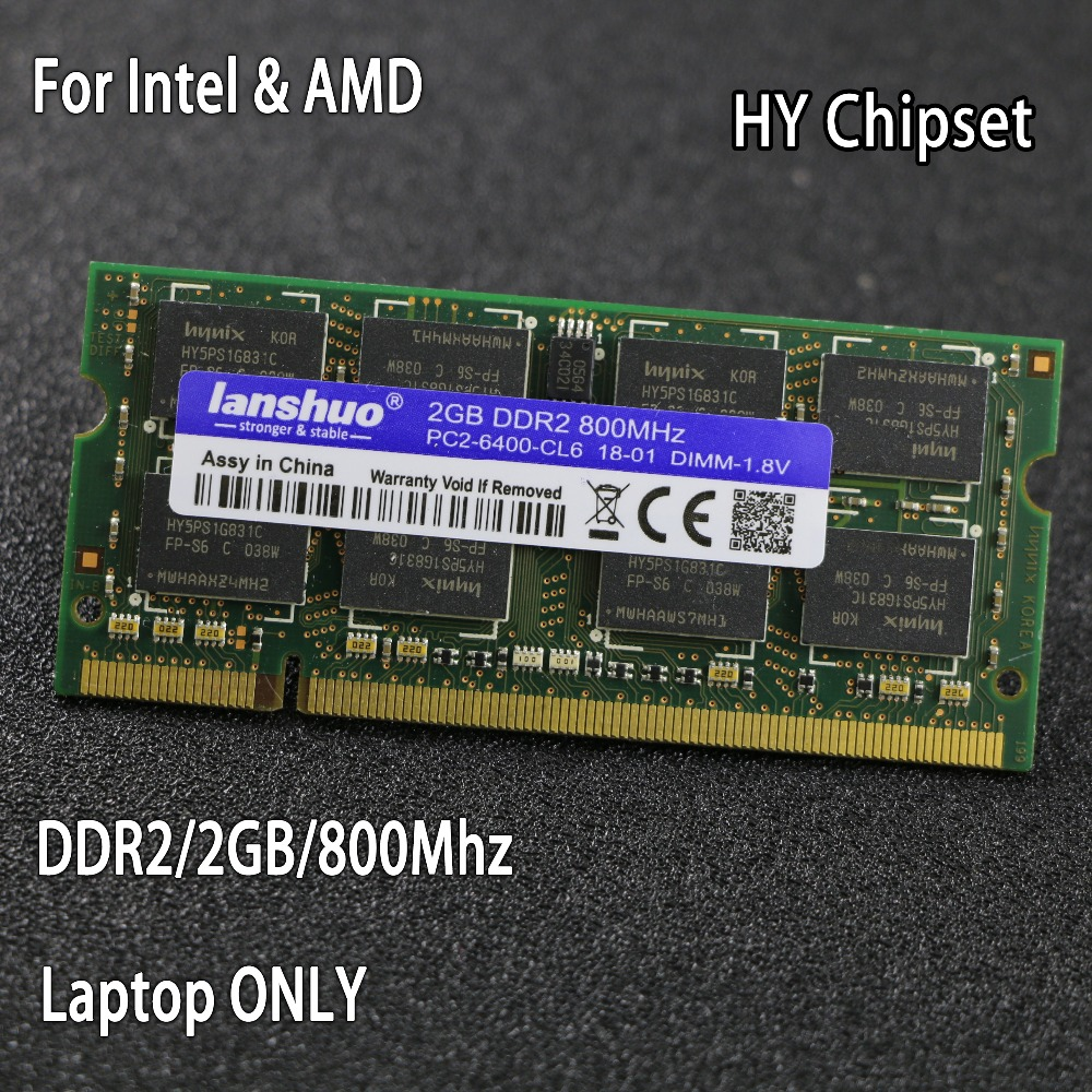 Original chipsatz DDR2 2 gb 800 mhz 667 mhz 800 667 PC2-6400 DDR 2 2g notebook speicher Laptop RAM 200PIN SODIMM für intel für amd