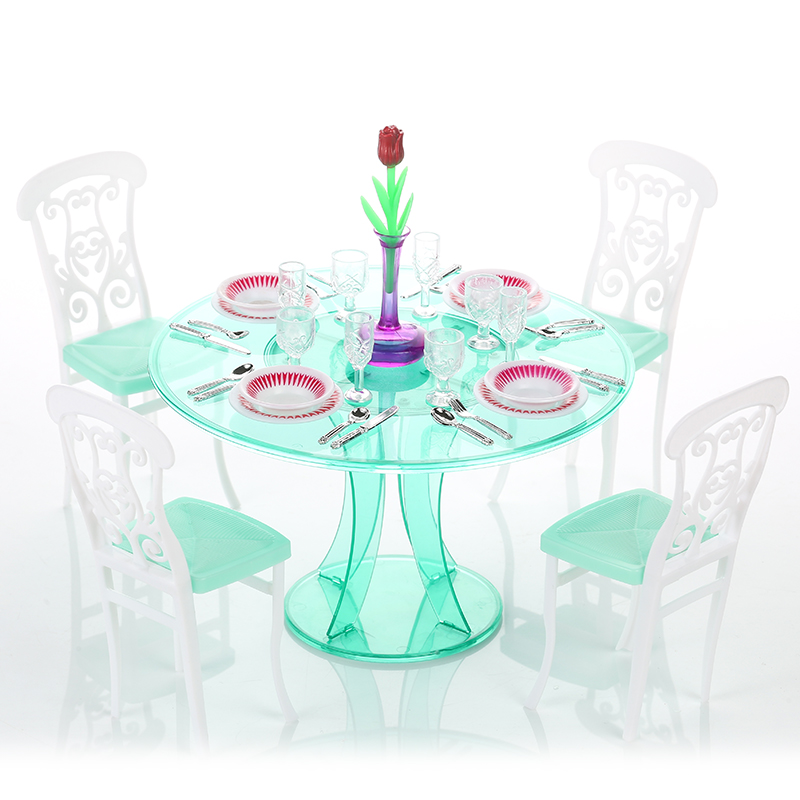 Miniature Furniture My Fancy Life Meal Time For Barbie Doll House Best Gift Toys For Girl Free Shipping