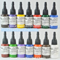 Free shipping 14 pcs MOM'S 0.5oz GREEN NUCLEAR UV BLACKLIGHT MOMs TATTOO INK