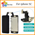 100% Test For Iphone 5C LCD display+touch screen digitizer+home button+bezel frame+front camera full assembly Black