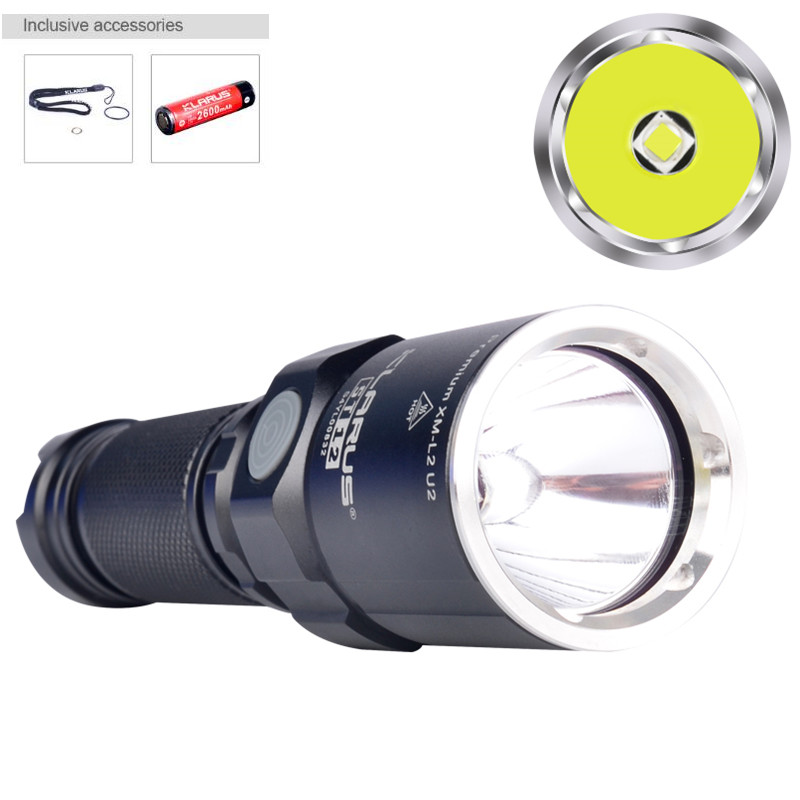 Flashlight KLARUS ST12 CREE XM-L2 U2 1A LED Max 900 lumens beam throw 212 meters outdoor sports torch with battery new klarus st12 led flahlight cree xm l2 5 modes led 900 lumens torch flashlight with 1 x 18650 battery