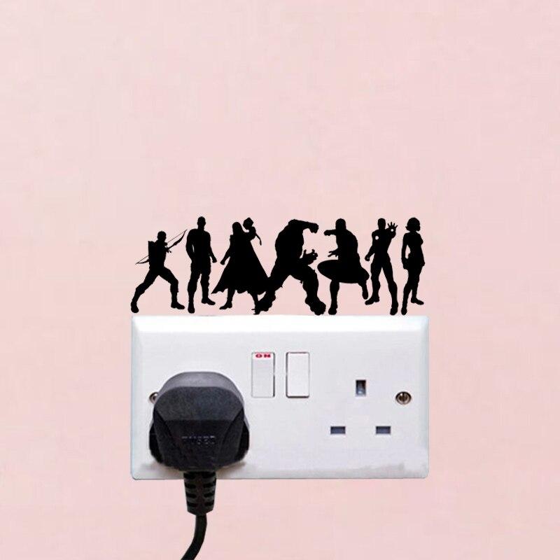 Супергерой личности декор стен дома Наклейка виниловая выключатель света Стикеры 6ss0226