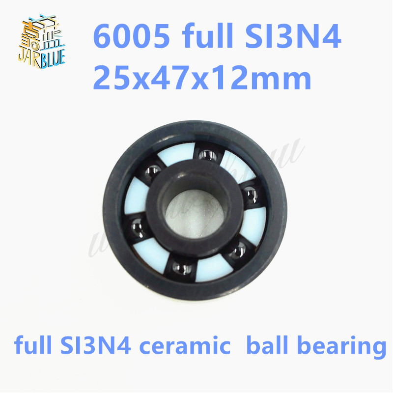 Free shipping 6005-2RS full SI3N4 P5 ABEC5 ceramic deep groove ball bearing 25x47x12mm high quality 6005 2RS gcr15 6036 180x280x46mm high precision deep groove ball bearings abec 1 p0 1 pcs