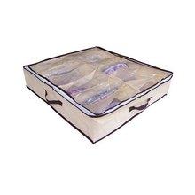 12 пар желтый органайзер для хранения обуви сумка с баночки для пудры с прозрачной крышкой и замок ЗИП-Лок сумка для обуви