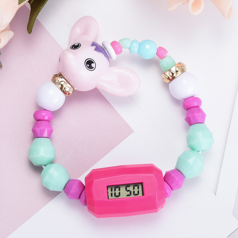 Kids Watches Digital Cartoon Deformation Beads Bracelet Lovely Dog Children's Educational Toys Top Sale Montre Enfant Romantic