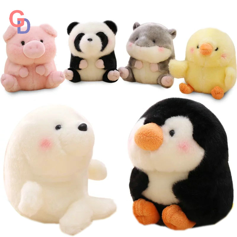 18cm Plush Kungfu Panda Toys Stuffed Ball Shape Aquatic Fat Round