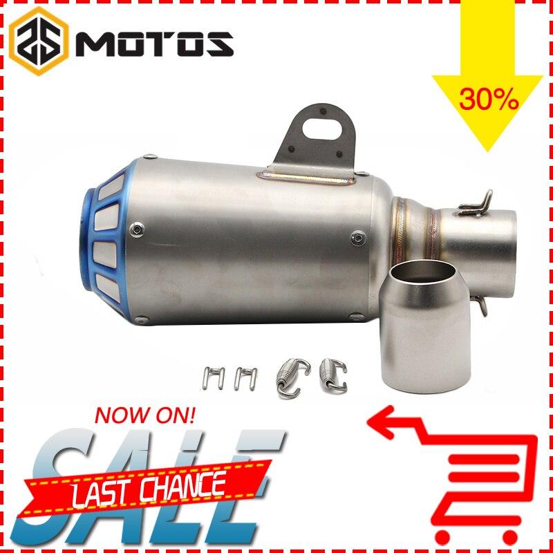 ZS MOTOS 51mm Motorcycle Yoshimura Exhaust Escape Moto Pipe Muffler Pipe CBR CB400 YZF TMAX530 GSXR Z750 Z800 MT07 MT09