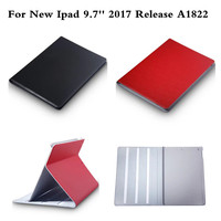 Genuine leather Case For Apple New Ipad 9.7 inch 2017 A1822 Flip Coque With Book style Stand Cover Protective Shell Tablet Cover