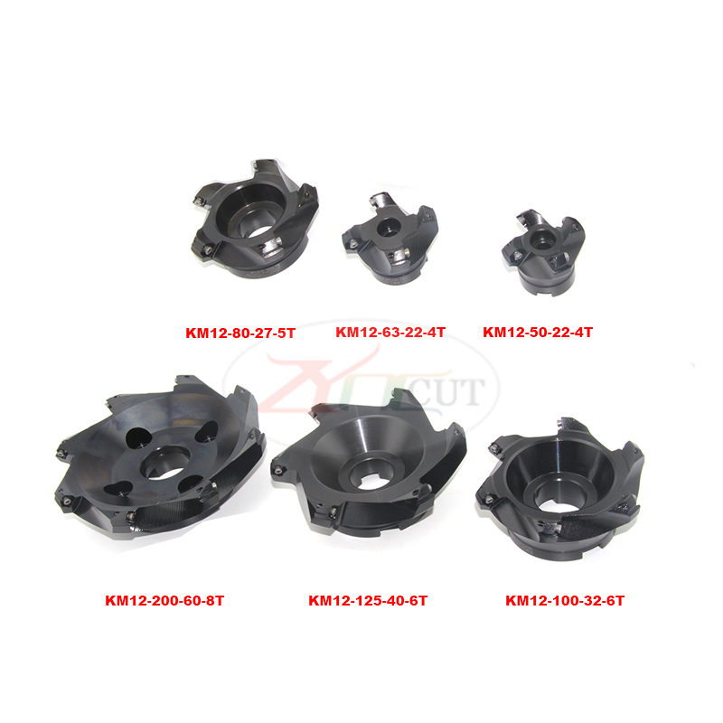 Купить с кэшбэком KM12-50/63/80/125mm 45 degree Plane milling cutter plate for SEHT1204AFTN CNC Finishing cutter head for machine tools