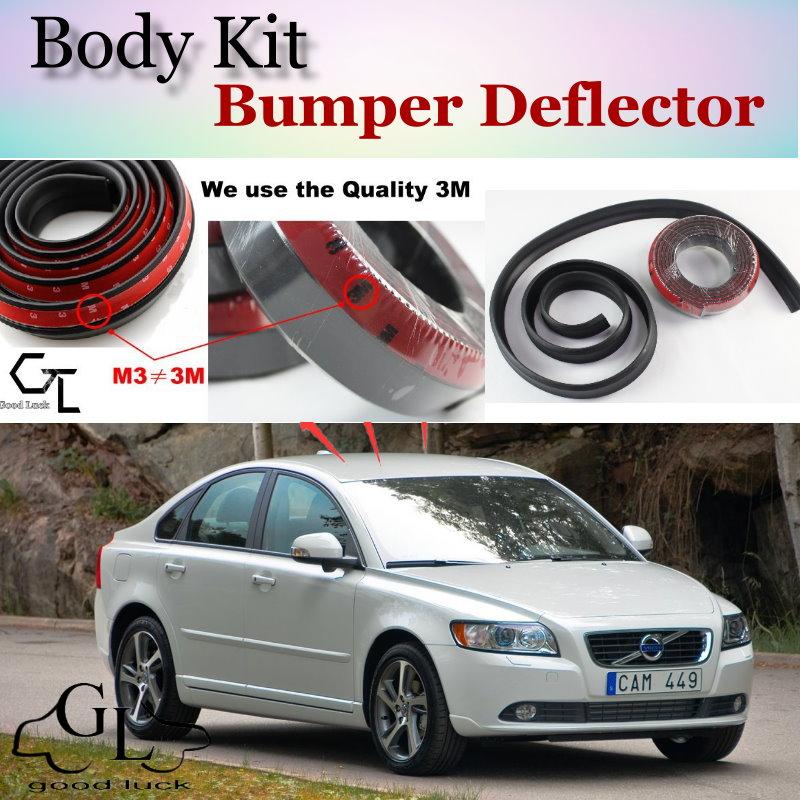 Volvo S40 Tuning: Bumper Lip Deflector Lips For Volvo S40 S40L Front Spoiler