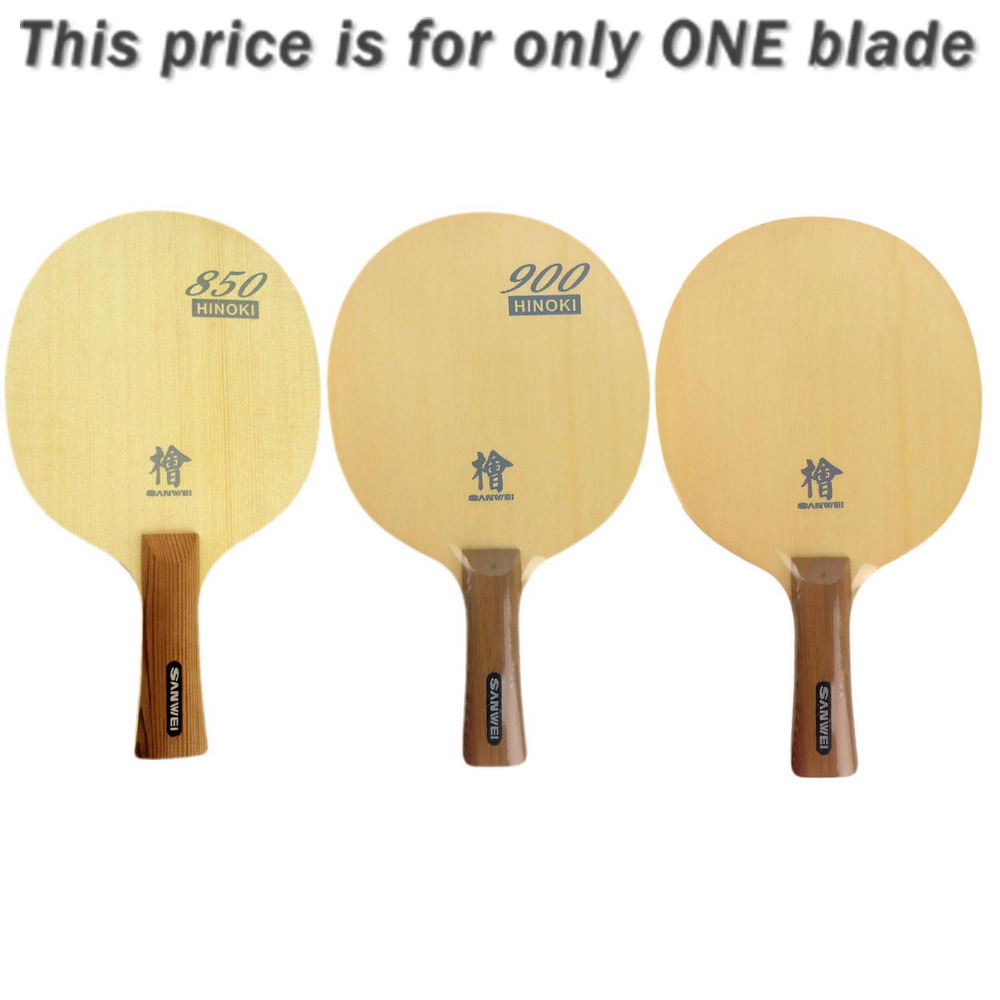 Original Sanwei H10 HINOKI Long shakehand FL table tennis pingpong blade original sanwei h10 hinoki penhold short handle cs table tennis pingpong blade
