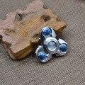 2017 de alta qualidade aero titanium handspinner alcance de alumínio espiral dedo giroscópio brinquedo mão