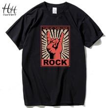Hanhent Rock hombres música Camisas algodón manga corta o-cuello camiseta  streetwear hip hop rap hombres Swag camiseta del estil. 8dc21899fd3