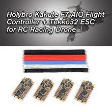 Holybro Kakute F7 AIO Tekko32 35A BLHeli_32 ESC Flight Controller Dshot1200 2-6S Combo Betaflight for RC Racing Drone emax mini magnum 2 f4 35a flytower 20x20mm 35a 2 6s blheli 32 4in1 esc f4 flight controller osd vtx for fpv drone rc plane