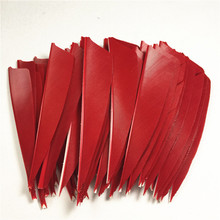 50pcs High Quality 3inch Feath Shield Cut Vanes Turkey Feather  Colour Red Arrow Real Feather Arrow Feathers Vanes Bow Arrow 50pcs high quality 3inch feath shield cut vanes turkey feather violet arrow real feather arrow feathers vanes bow arrow