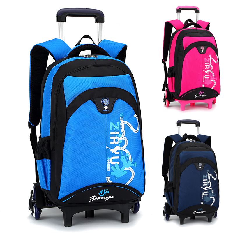 Kids Rolling Backpack Casual School Backpacks Primary School Bags For Girls Bolsa Infant ...