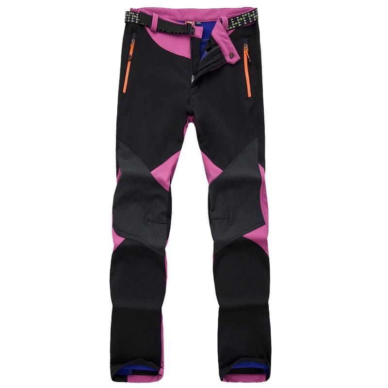 inverno das mulheres velo softshell calcas termicas 01
