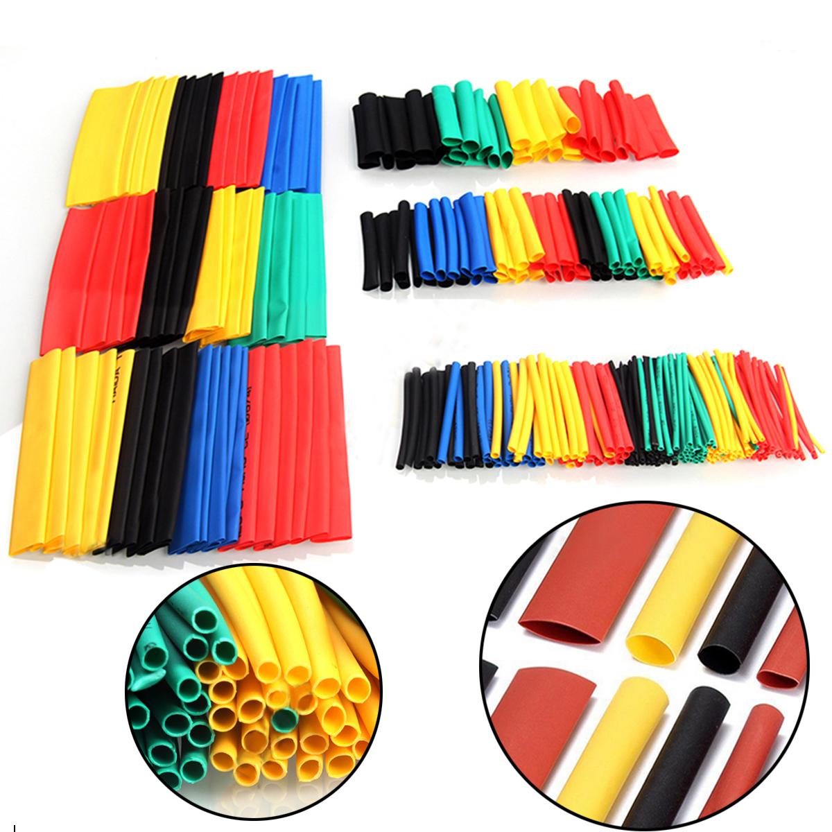 Mayitr 328pcs New Heat Shrink Tubing Set Polyolefin 2:1 Electrical Wrap Wire Cable Sleeving Kit