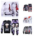 4XL 2016 men tracksuit set Jordan 23# hoodies men 2pac crewneck hiphop hoodies twenty one pilots sweatshirts+ emoji sweatpants
