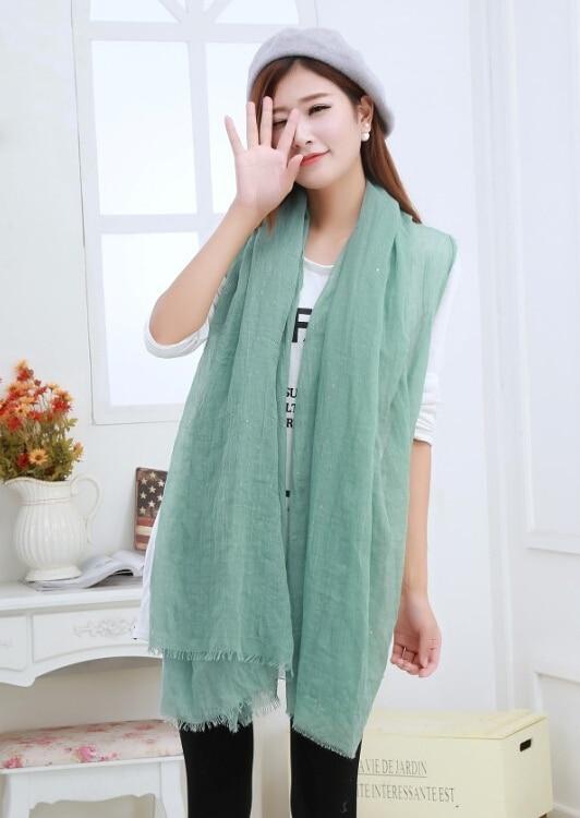 Winter Scarf Women's Viscose Cotton Big Size Glitter Shawls Popular Hijab Muslim Long Plain Scarves/scarf 1 - China Fugao Trading Company Limited store