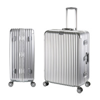 28 inch Aluminum Luggage Rolling Hardside Cabin Spinner Travel Case Trolley Suitcase