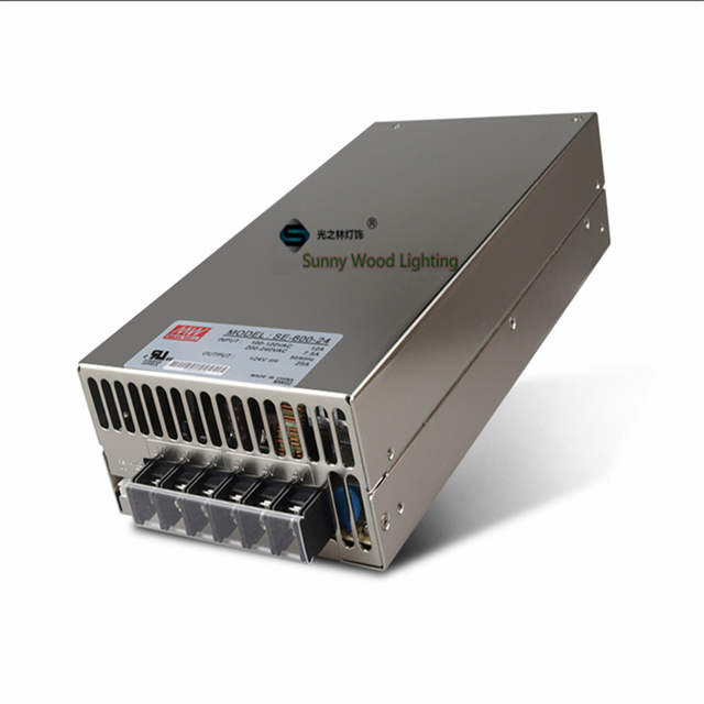 US $98 9 |High Power 100 240Vac to 24VDC power supply ,25A 600W driver ,LED  Power supply ,transformer CE UL SE 600 24-in Lighting Transformers from
