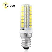 TSLEEN Mini 3W W 5W 7W 220V LED Lamp E14 E12 B15 Corn Bulb SMD2835 360 Beam Home Decoration for Chandelier Spotlight