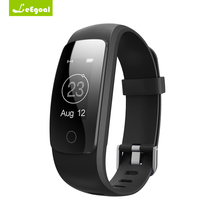 Leegoal ID107 плюс HR Смарт Браслет монитор сердечного ритма Band дистанционного управления браслет здоровье фитнес трекер для iOS и Android