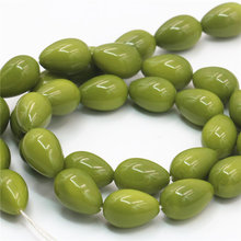 Hot Sale Accessories 9x13mm Drops Imitation Pearl Green Glass Loose DIY Beads Jewelry Making Gifts For Women Girls Wholesale