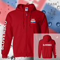 Slovakia mens hoodies and sweatshirt polo sweat suit streetwear tracksuit nation fleece zipper flag Slovak Republic 2017 casual