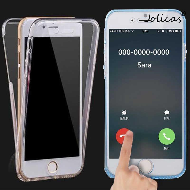 Carcasa transparente suave de 360 grados para iPhone X Xs Max XR 8 7 6 6 s Plus transparente funda de silicona Funda para iPhone 5 5S SE