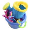 9 Pçs/set Praia de Areia Ferramenta de Jogo Pá Pá Pit Conjunto de brinquedos para crianças Brinquedo De Plástico De Água do bebê vivo boneca parágrafo meninas