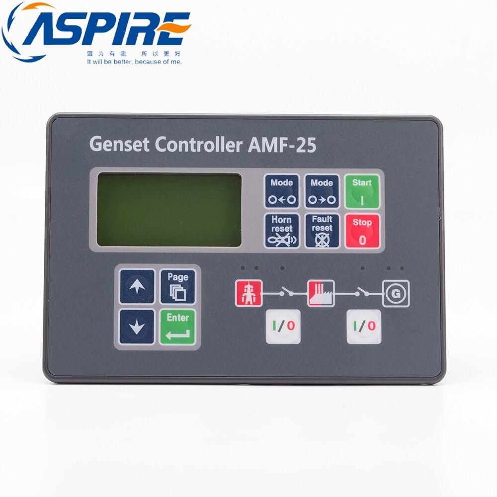 AMF25 générateur contrôleur de démarrage automatique groupe électrogène électronique démarrage automatique Module de commande panneau AMF25