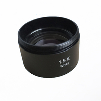 1.5X Barlow Auxiliary Objective Lens for Stereo Microscope with Working Distance 48 mm Mounting Thread