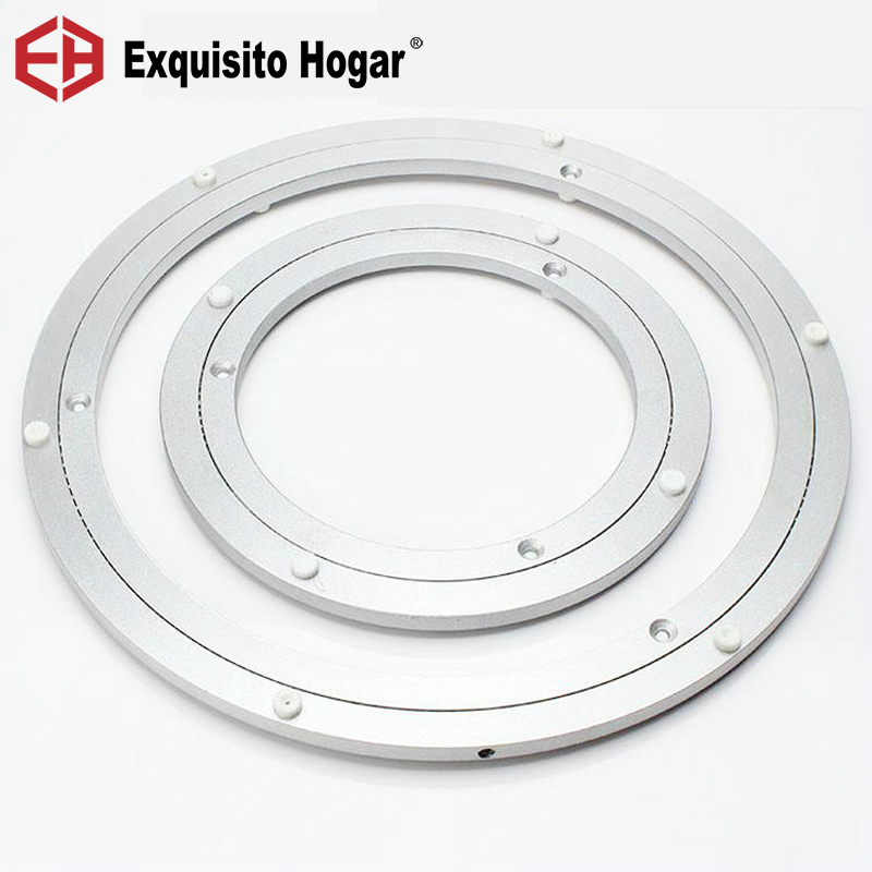 Home Hardware Dining Table Slewing Bearing Aluminum Circle Round Table Turntable Restaurant Universal Glass Turntable Base