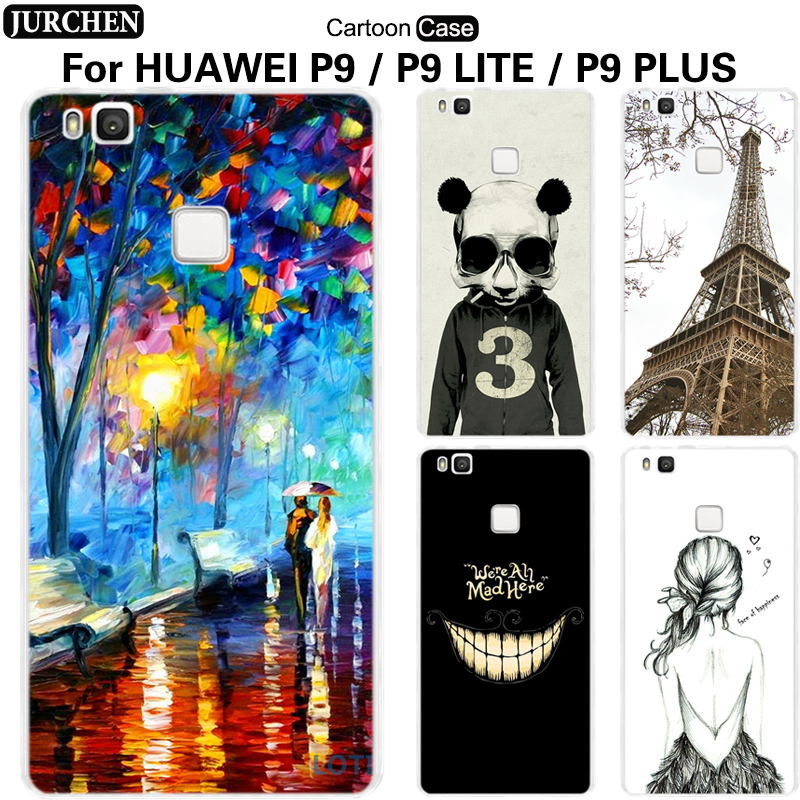 JURCHEN Case For Huawei P9 Plus Huawei P9 Lite Case Cute Cartoon Silicone Back Cover For Huawei Ascend P9 Lite Plus Cover Case