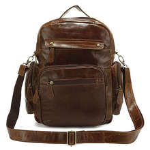 J.M.D Genuine Leather Unisex Vintage Style Hiking Backpacks Travel Bag School bags Optional LOGO 5Pcs/Lot Free Shipping #2751B-1