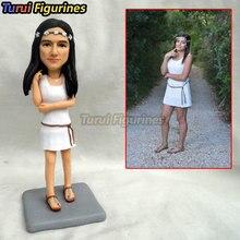 handmade personalized bobblehead figurines custom dolls birthday cake topper girl mini statue sculptures miniatures