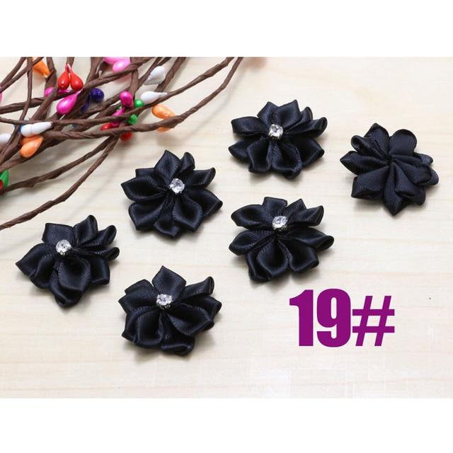 Diy 100pcs black fabric silk flower for accessories multilayers diy 100pcs black fabric silk flower for accessories multilayers artificial flower hair clips satin mightylinksfo