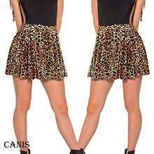 Горячая сексуальная женская полиэфирная юбка новая леопардовая печатная Высокая талия клетчатая плиссированная для катания на коньках короткая/мини юбка плюс размер