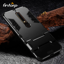 Case For Nokia 7 Plus 6 2018 Cases 5 8 2 3 1 Armor Kickstand Hybrid Hard Back Covers for 6.1 7.1 X6 2.1