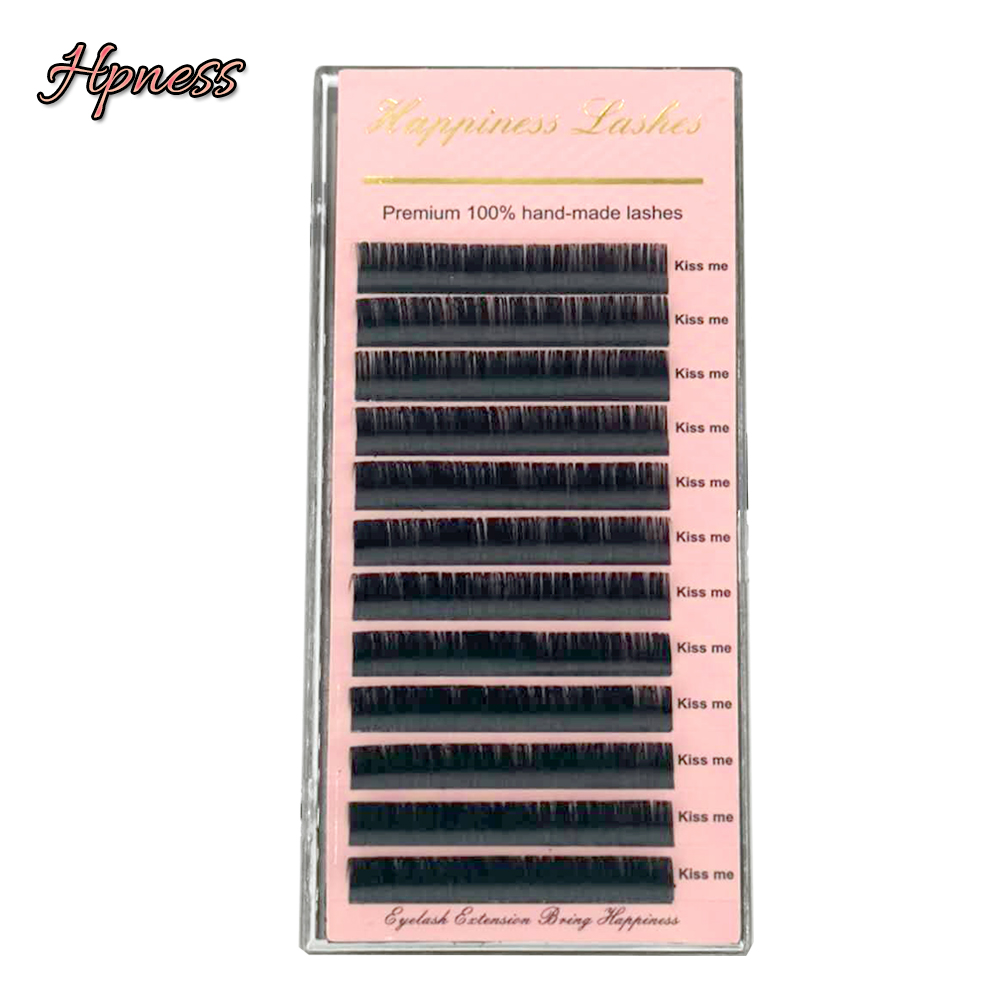 HPNESS Eyelash Extension Soft Silk Mink Eye Lashes All Sizes 3D Individual Lashes
