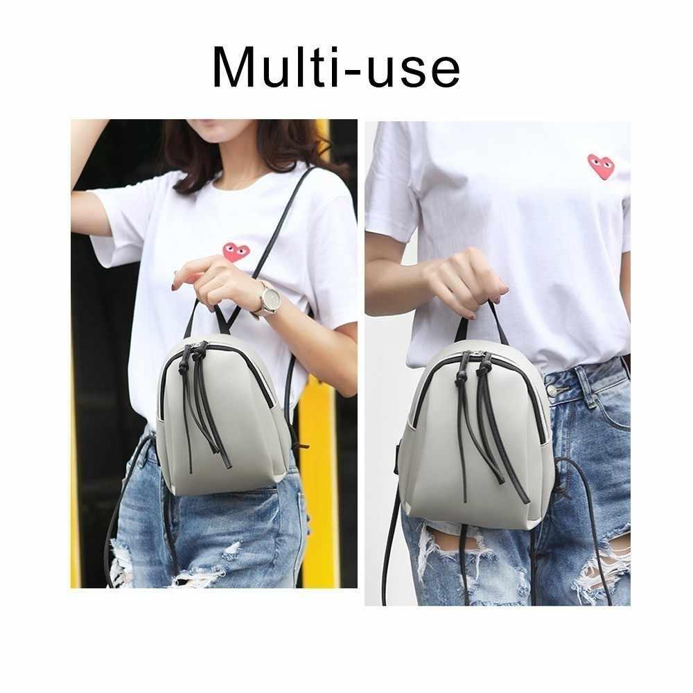 Herald moda pequena mochila feminina com borla escola saco de livro para adolescente feminino macio mochila de viagem de couro sac