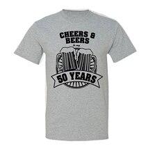 496cbc5eb8bfbc Fashion T-shirt Mannen Kleding Proost En Beers Naar Mijn 50 Jaar T-shirt