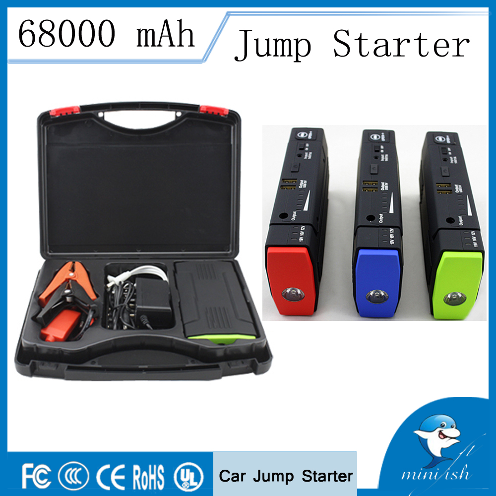 Hot Selling Mini Portable Car Jump Starter 68000mAh 12V External Battery Charger Auto Emergency Start Power Bank