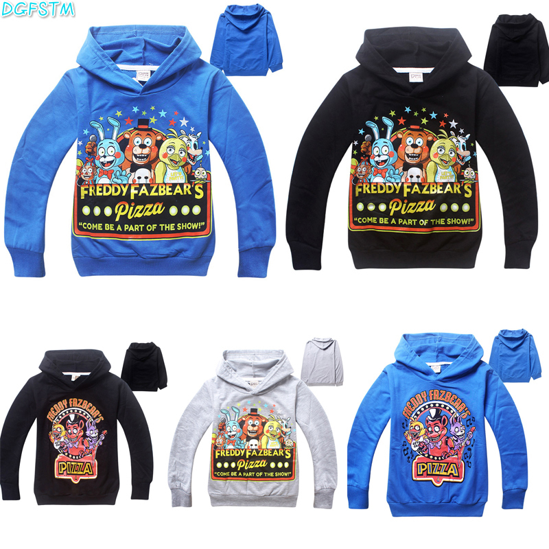 2017 New Five Nights at Freddy's Boys Long sleeves Children T Shirts Kids Cotton Boy Clothes Five Nights At Freddys FNaF Tshirt женская футболка other 2015 3d loose batwing harajuku tshirt t a50