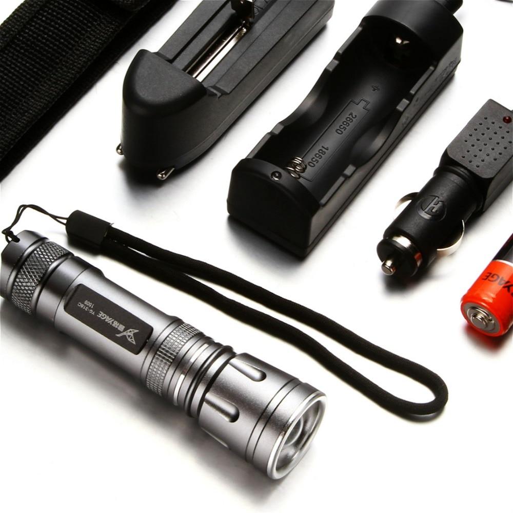YAGE Flashlight Mini Cree LED Flashlight Telescopic Zoom Flashlight Touch 18650 Flashlight Linterna Torch Lantern Lampe